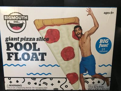 Giant pizza slice pool float over 6ft