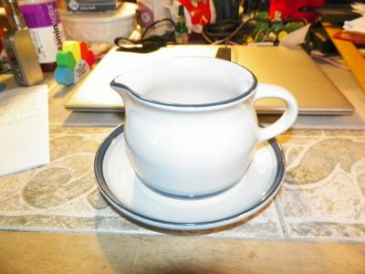 PFALTZGRAFF SKY GRAVY BOAT AND UNDER PLATE