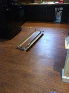 Laminate flooring installations