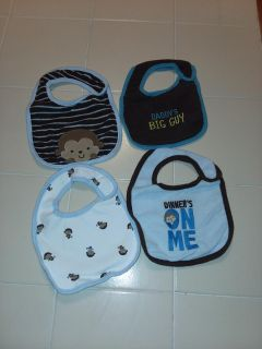 Like new 4 boy baby bibs excellent condition