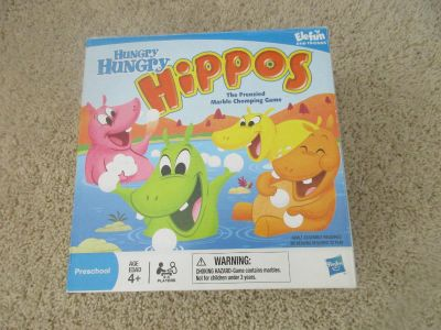 Hungry Hungry Hippos Game $4.00 (played onetime, all the pieces are there and works)