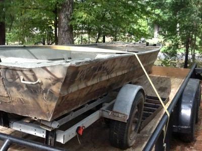 14ft weld boat and trailer 500 or trade