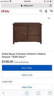 Eddie Bauer Dresser with changing table top