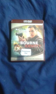 The Bourne Identity Promotional Disc HD DVD (Universal 2002, 2007)