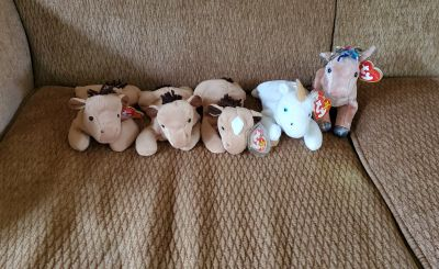 Beanie Baby Horses & Unicorn, $5 for All
