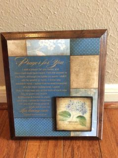 CLEARANCE ****BRAND NEW***I Said A Prayer For You Today Plaque***