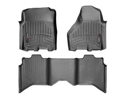 New Weather Tech Floor mats for Ram pick up, full console. Front & Rear Black