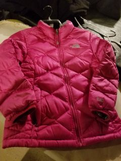 North face down coat girls