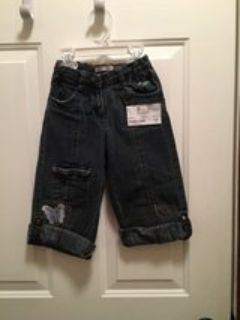 Jeans with butterfly adjustable length (girls 3T)
