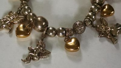 Avon Hearts and Angels Charm Bracelet