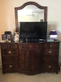 BroyHill Dresser and mirror and nightstand