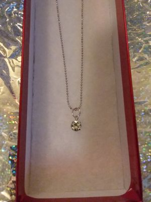 Necklace for $2 in red gift box