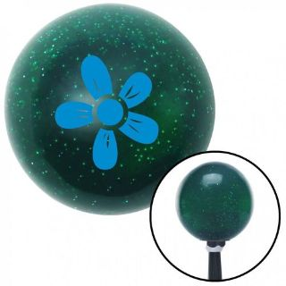 Buy Blue Hawaiian Flower #2 Green Metal Flake Shift Knob with 16mm x 1.5 motorcycle in Portland, Oregon, United States, for US $29.97