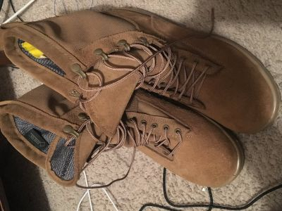 Army steel toe boots