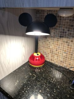 Disney Mickey Mouse Adjustable Gooseneck desk lamp with storage carousel