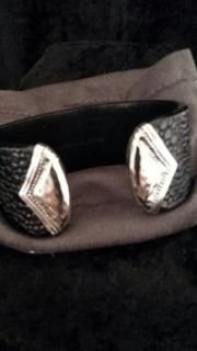 leather and .925 sterling silver cuff bracelet