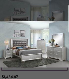 9 pc 4 month new bedroom set