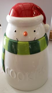 Adorable Snowman Cookie Jar - never used