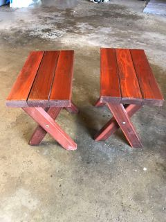 2 wooden 10 x 18.5 table or can be used for extra seating
