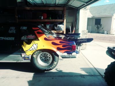 1989 Ford Mustang Notch big tire car