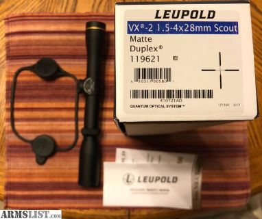 For Sale: Leupold 1.5-4x28mm Scout