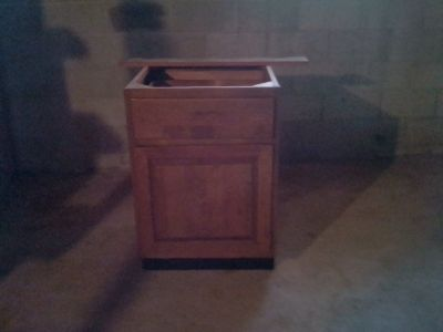 Oak Base Cabinet with One door and One drawer (New)!