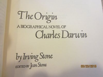 """The Origin"" Biography of Charles Darwin signed book"