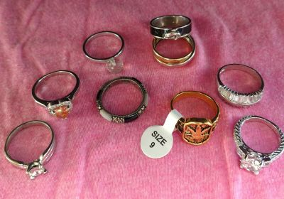 9 Asst. Rings 8 @size 9 & 1 @size 6