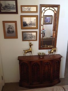Entryway Table and Mirror Set