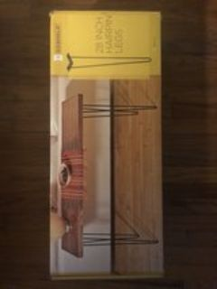 SET OF 4 28 HAIRPIN DESK/TABLE LEGS