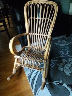Rocking chair Wicker from 1950s