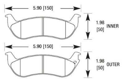 Buy HAWK HB443F.614 - 03-10 Ford Crown Victoria Black Ferro-Carbon Rear Brake Pads motorcycle in Chino, California, US, for US $71.61