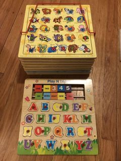 Puzzle Lot with Puzzle Holder (bonus learning puzzle)