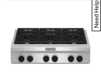 Kitchen Aid Architect Series 36 Gas CookTop. Retail approx $3,000