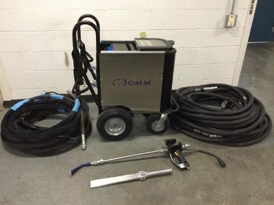 $4,000, Dry Ice Machine Cold Jet Blast Unit Aero 40 with Accessories