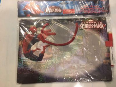 New Spiderman dry erase board with marker