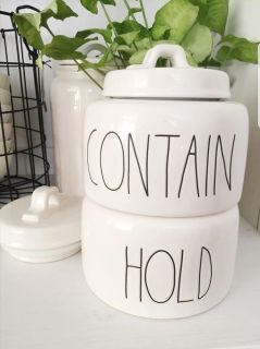 Rae Dunn Hold Contain Canisters