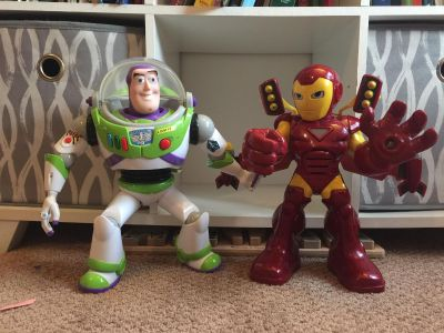 Buzz light year and Iron Man