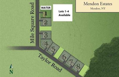 LOTS 1-4 Mile Square Rd Road Mendon Four BR, BUILD WITH US