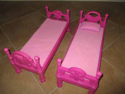 "Pink Beds for 18"" Dolls - Pink"