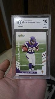 BCCG 10 Mint or Better Adrian Peterson ROOKIE CARD#341