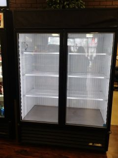 "True 2 Door Glass Merchandiser Freezer 54"" 49 Cu Ft"