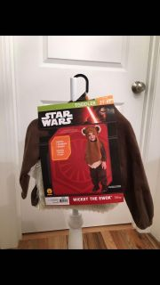 Disney s Star Wars Ewok Halloween Costume/Dress Up. Size 3t-4t. Brand New with Tags.
