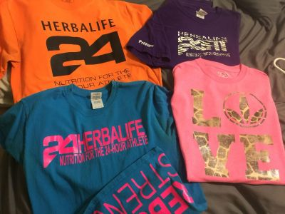4 size small Herbalife T-Shirts