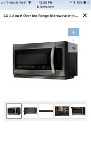 LG microwave 2.2 cuft