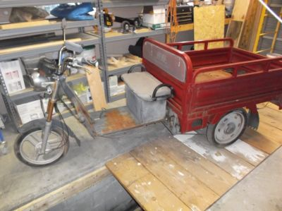 Electric Three Wheel Can be Converted to Make a Nice Motor Cycle Trailer