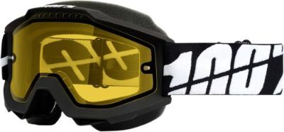 Buy 100% Accuri Snow Goggles Black w/Yellow Lens 50203-061-02 motorcycle in Lee's Summit, Missouri, United States, for US $59.95