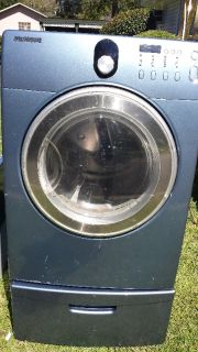 Front Load Samsung Dryer with pedestal