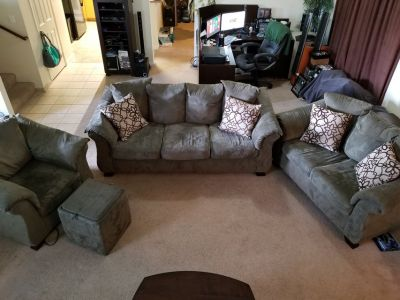 Microfiber Couches, Chair and Ottoman