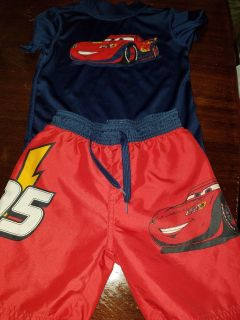 4t cars swim trunks with shirt